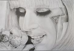 portrait realiste lady gaga