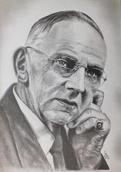 portrait realiste edgar cayce