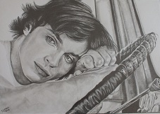 portrait tom welling crayon
